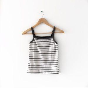 ZARA Knit Striped Tank Top